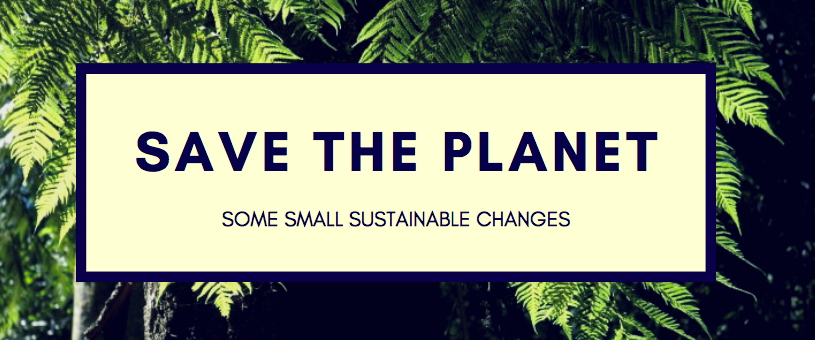 SAVE THE PLANET: some small sustainable changes